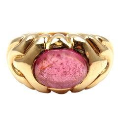 Bulgari Pink Tourmaline Yellow Gold Ring