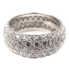 TIFFANY & CO. Etoile Platinum 3.30CT Diamond Five-Row Ring