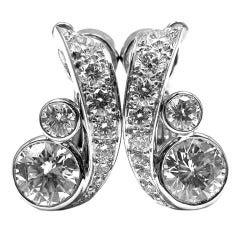 Cartier Diamond Platinum Earrings