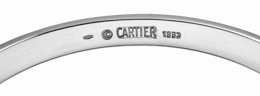 CARTIER Love Size 17 White Gold Bangle 4