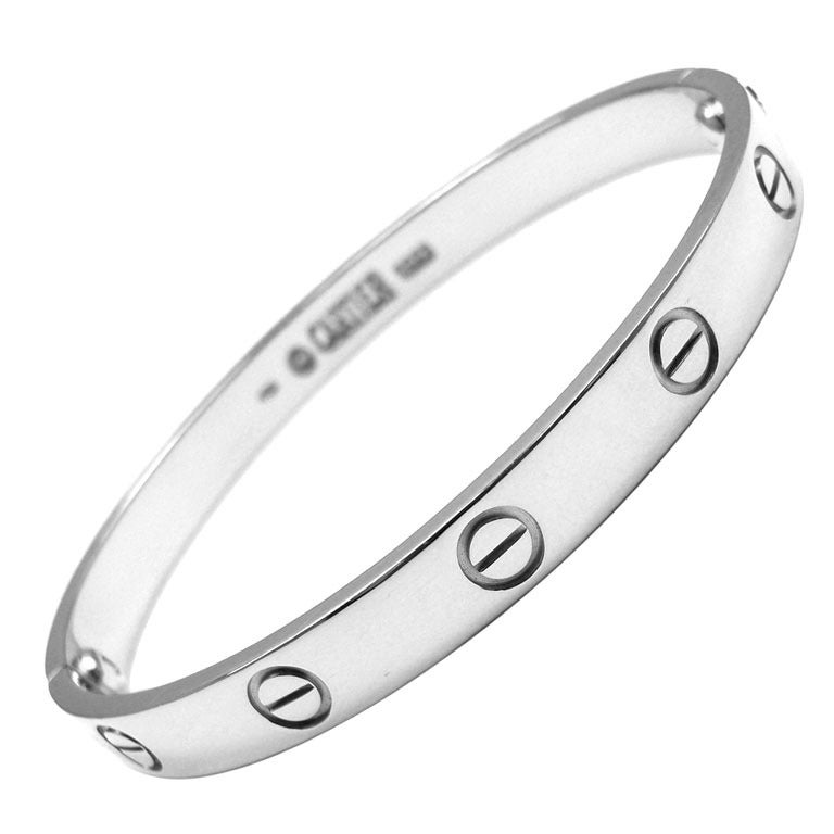 CARTIER Love Size 17 White Gold Bangle 1