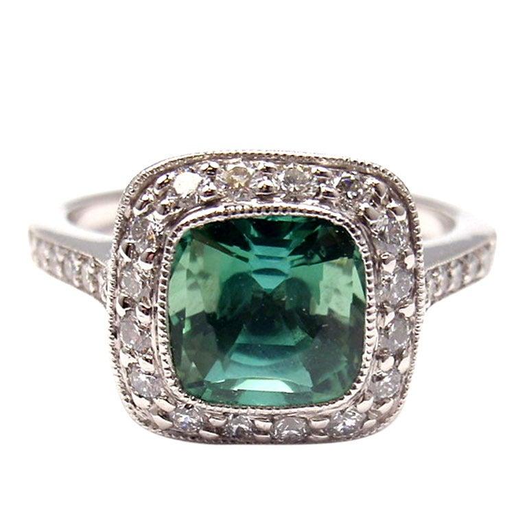 Tiffany And Co Legacy Diamond And Green Tourmaline
