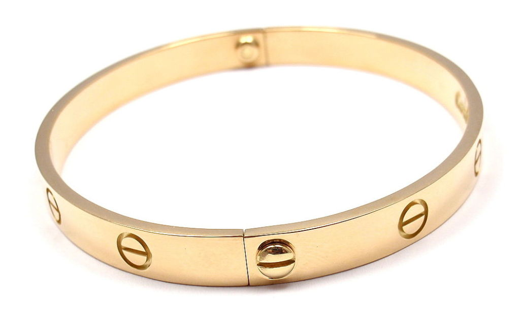 CARTIER Love Size 19 Yellow Gold Bangle 2