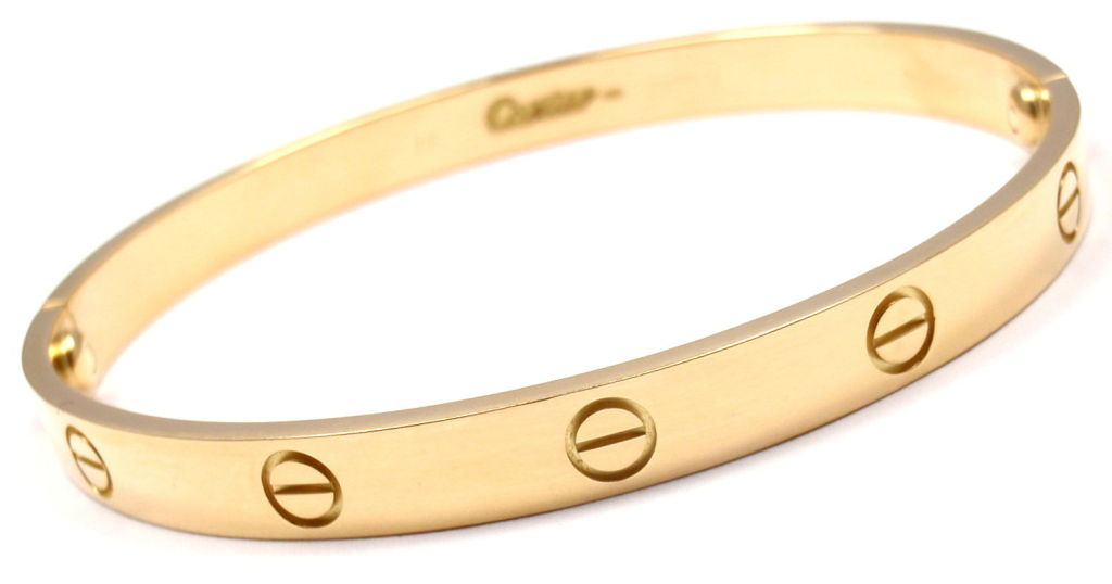 CARTIER Love Size 19 Yellow Gold Bangle 4