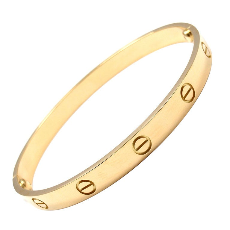 CARTIER Love Size 19 Yellow Gold Bangle 1