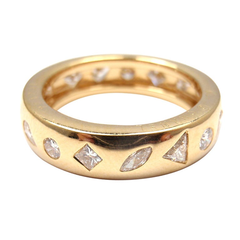 Chanel Diamond Eternity Yellow Gold Ring at 1stdibs