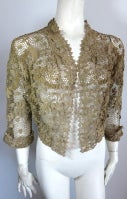 19th Century floral crochet jacket thumbnail 2
