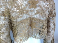 19th Century floral crochet jacket thumbnail 7