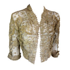 19th Century floral crochet jacket thumbnail 1