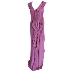 MARTIN MARGIELA silk runway dress