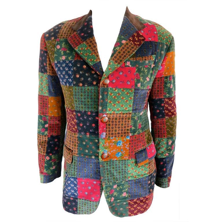Patchwork Jackets For Men Nuji