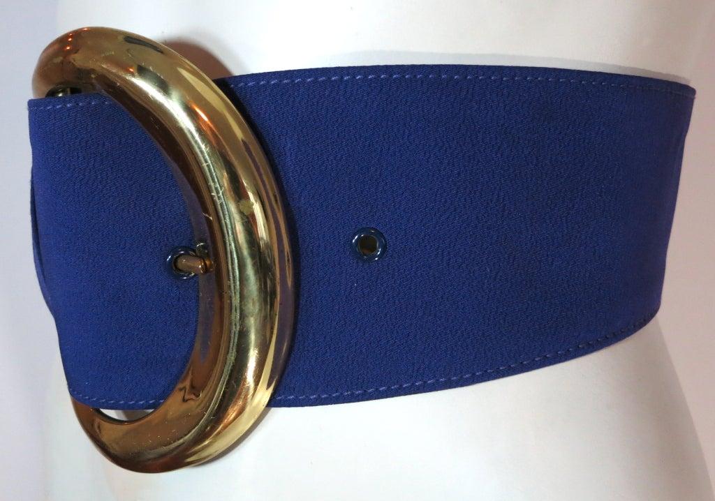 vintage donna karan 1980 s wide purple and gold belt at