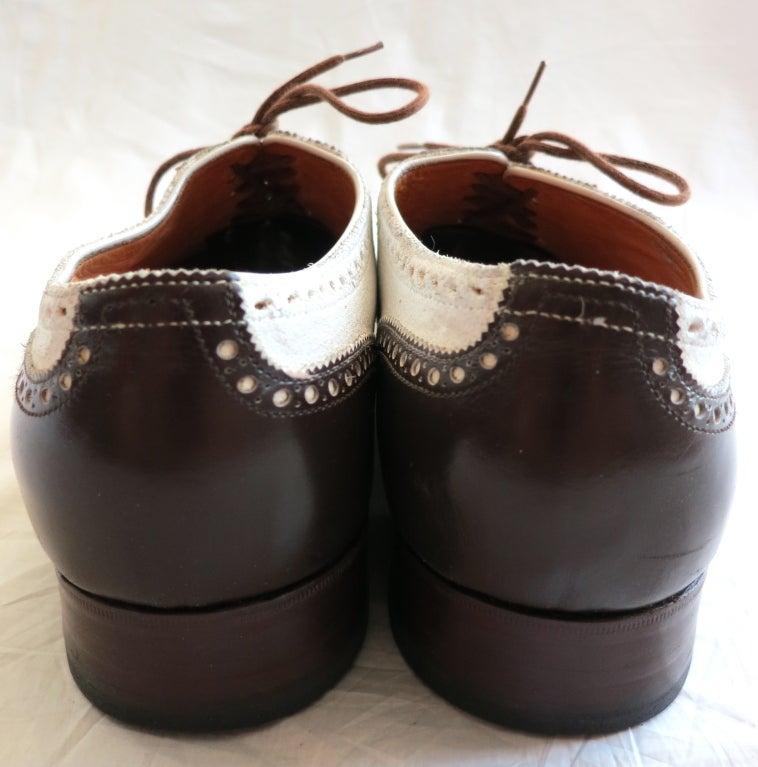 vintage lobb s bespoke brown and white spectator