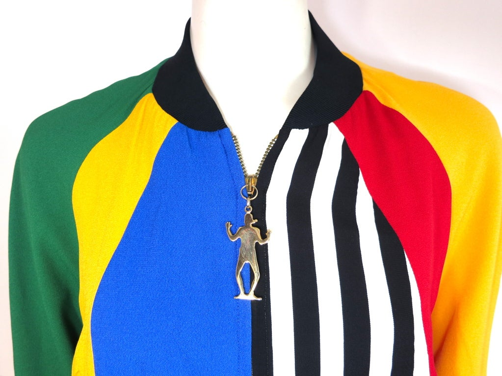 MOSCHINO ITALY 1993 Color blocked bomber jacket image 4