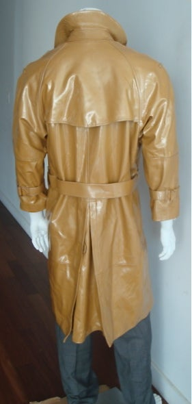 Ysl Yves Saint Laurent Men S Olive Patent Leather Trench