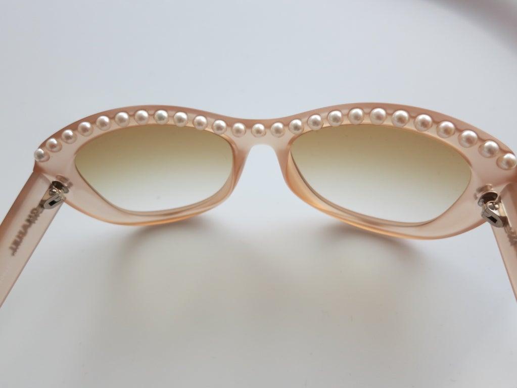 Unworn CHANEL PARIS encapsulated fresh water pearl sunglasses image 6