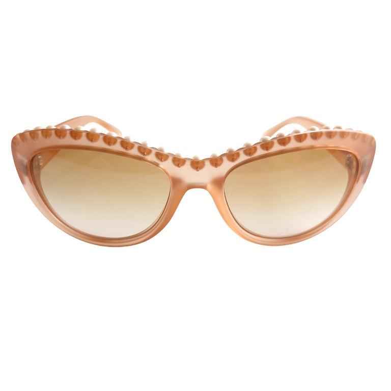 Unworn CHANEL PARIS encapsulated fresh water pearl sunglasses
