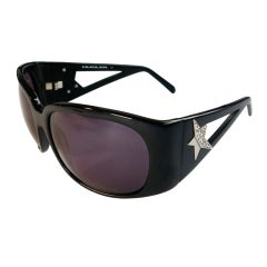 THIERRY MUGLER Jet black sunglasses with Swarovski crystal star