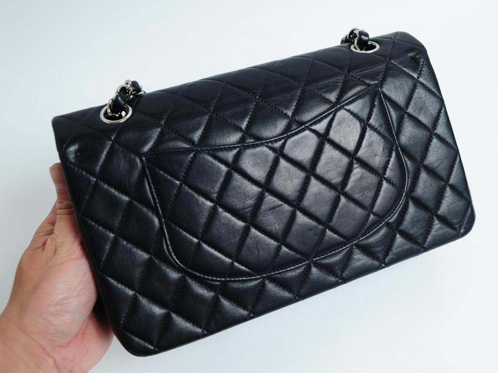 CHANEL PARIS Classic 2.55 Black quilted leather purse image 4