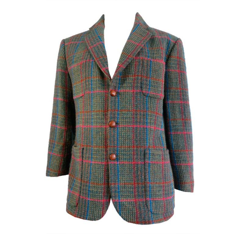 Vintage Nigel Cabourn English Tweed Cricket Club Jacket At
