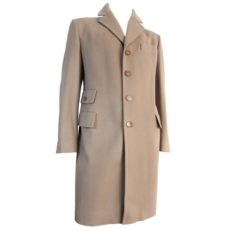 VIVIENNE WESTWOOD MAN Wool/Cashmere men's crombie coat at ...