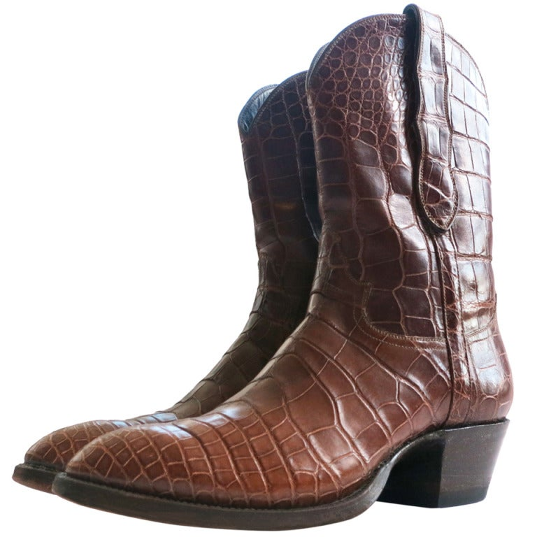 Crocodile skin boots - photo#47