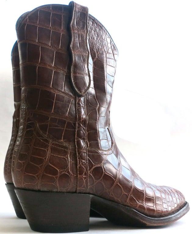 loveless women u0026 39 s african crocodile skin boots at 1stdibs