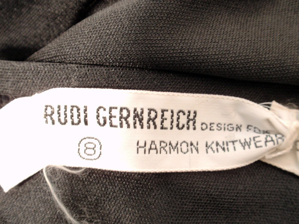 Rudi Gernreich 2 pc. Black & White Maxi Skirt & Black Halter Top 2