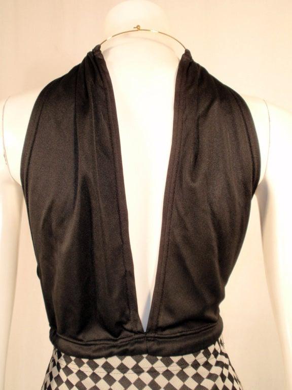 Rudi Gernreich 2 pc. Black & White Maxi Skirt & Black Halter Top 7