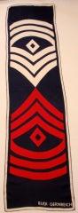 Rudi Gernreich Red, White, Blue Military Print Silk Scarf