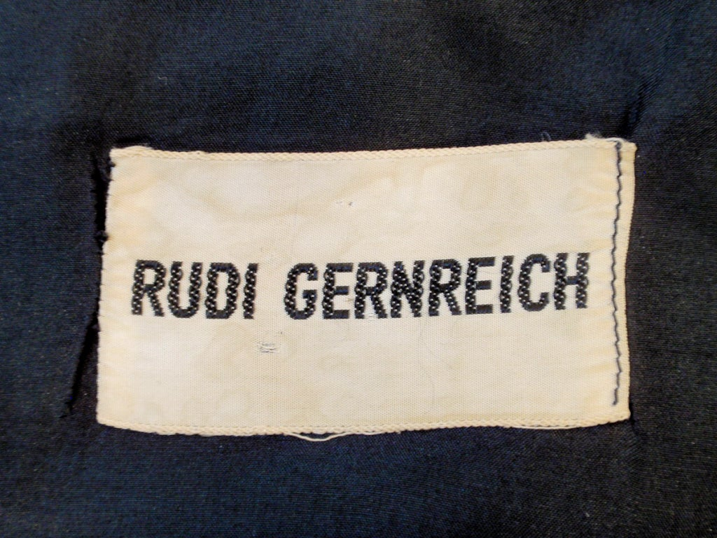 Rudi Gernreich Black Silk Sleeveless Tank Top In Good Condition For Sale In Los Angeles, CA