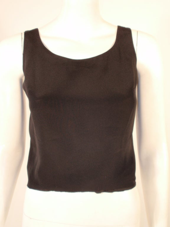 Women's Rudi Gernreich Black Silk Sleeveless Tank Top For Sale