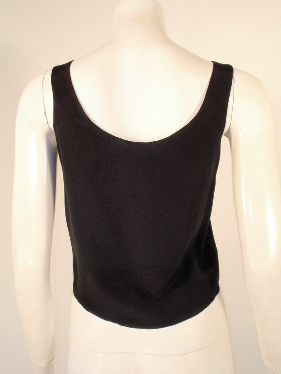 Rudi Gernreich Black Silk Sleeveless Tank Top For Sale 2