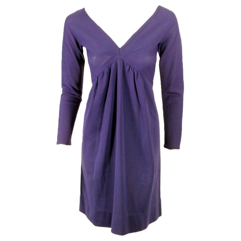 Rudi Gernreich Vintage Purple Knit V-Neck Mini Dress, c. 1960's