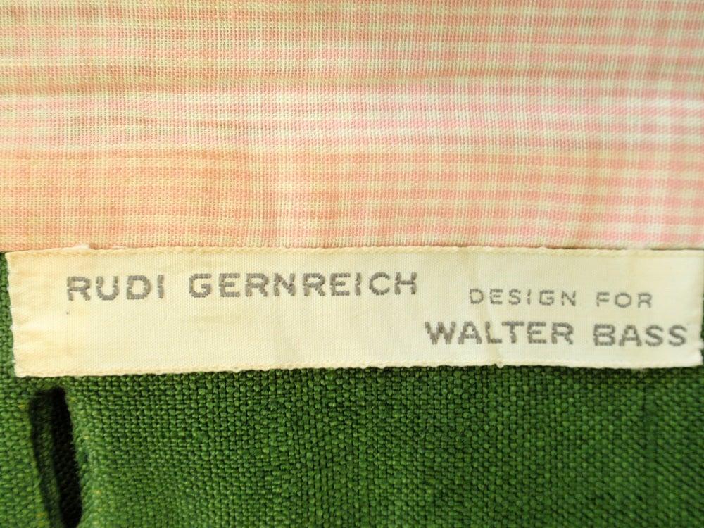 Rudi Gernreich Vintage Green 2 Pc. Skirt Suit w/ 2 Belts 2