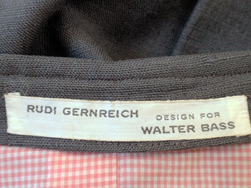 Rudi Gernreich Vintage Gray Cape Jacket & Skirt Suit 2