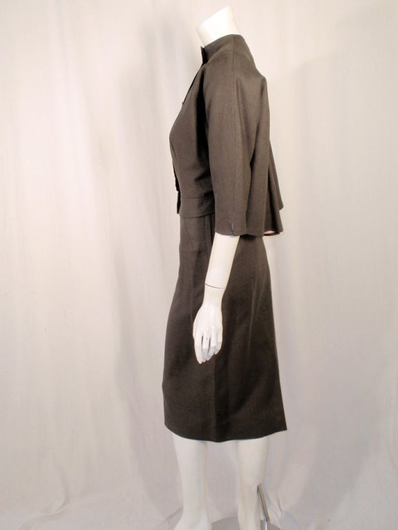 Rudi Gernreich Vintage Gray Cape Jacket & Skirt Suit 3