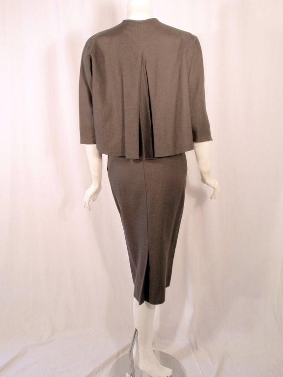 Rudi Gernreich Vintage Gray Cape Jacket & Skirt Suit 4