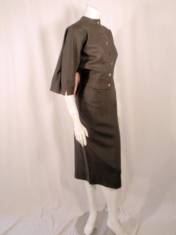 Rudi Gernreich Vintage Gray Cape Jacket & Skirt Suit 5