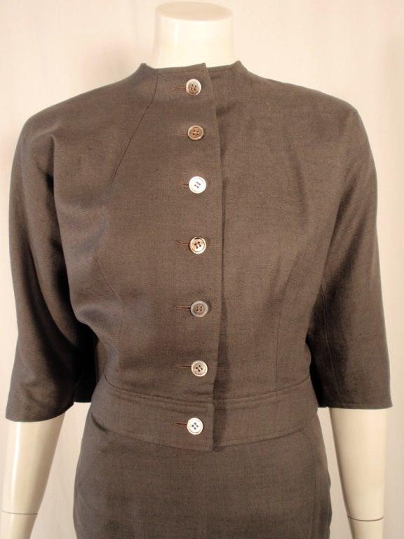 Rudi Gernreich Vintage Gray Cape Jacket & Skirt Suit 6