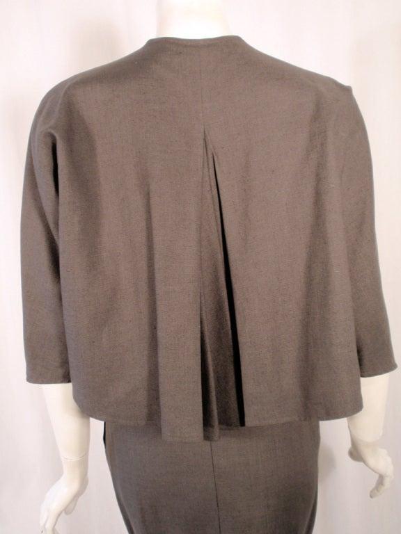 Rudi Gernreich Vintage Gray Cape Jacket & Skirt Suit 7