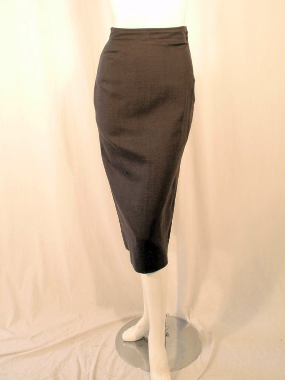 Rudi Gernreich Vintage Gray Cape Jacket & Skirt Suit 9
