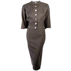 Rudi Gernreich Vintage Gray Cape Jacket & Skirt Suit
