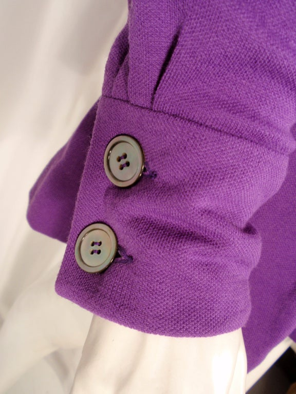 Rudi Gernreich Purple Knit Mini Coat Dress w/ Button Front & Belt For Sale 4