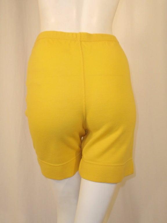 Rudi Gernreich Vintage Mustard Wool Knit High Waist Shorts 8