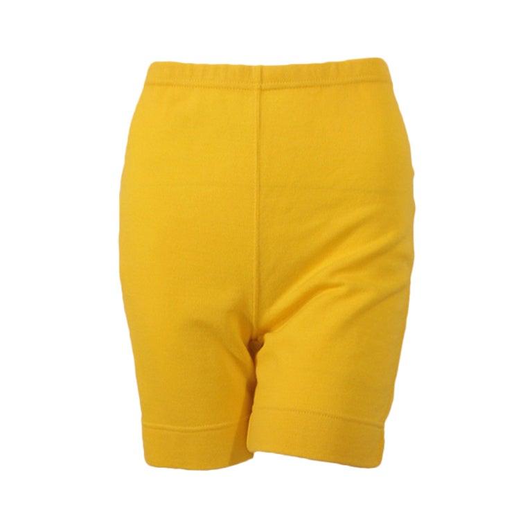 Rudi Gernreich Vintage Mustard Wool Knit High Waist Shorts 1