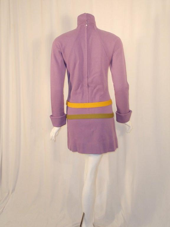 rudi gernreich vintage purple knit mini dress w 2 hip