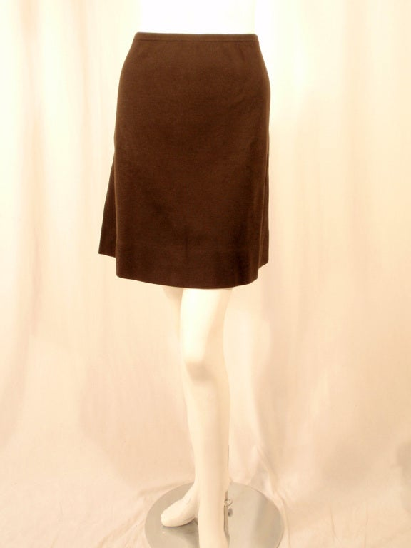 Rudi Gernreich Vintage Brown Wool Knit Mini Skirt 2