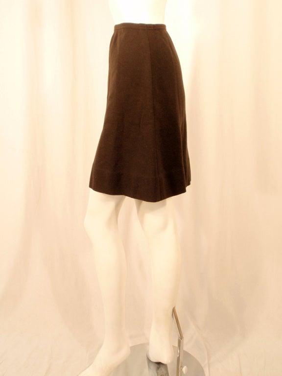 Rudi Gernreich Vintage Brown Wool Knit Mini Skirt 4