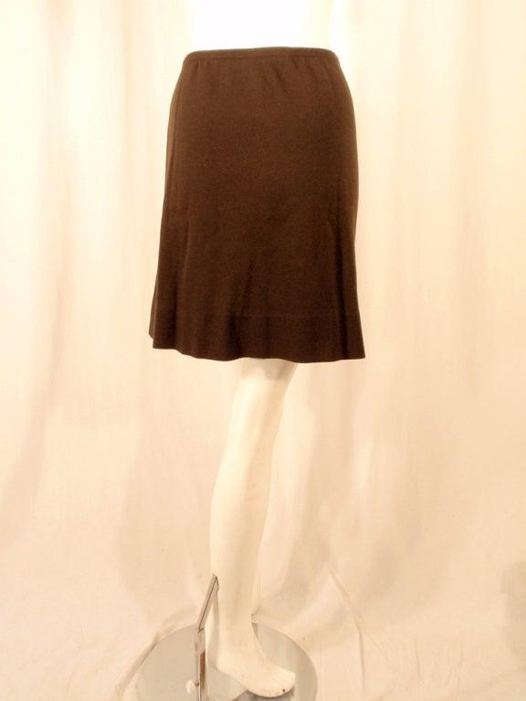 Rudi Gernreich Vintage Brown Wool Knit Mini Skirt 5
